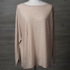 Style & Co Linen Blend Striped Sweater 2X